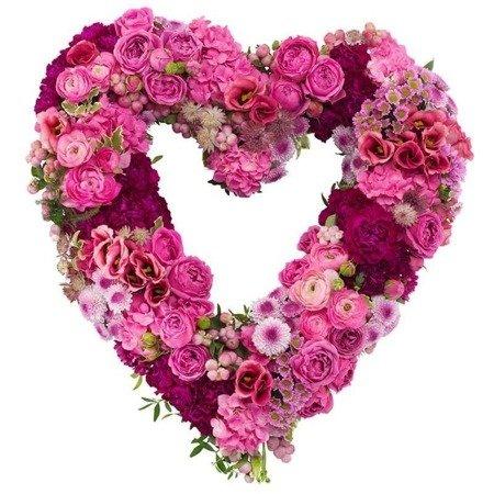"Kompozycja ""Różowe serce"""