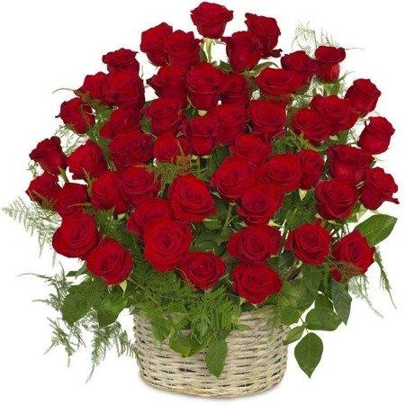 Kosz 50 Róż w koszu