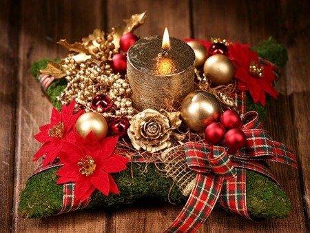 Stroik bożonarodzeniowy ze świecą 7